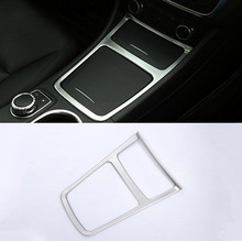Chrome Car Center Storage Box Trim Ashtray Frame Mercedes Benz CLA GLA Class W117 C117 2014-2017 Accessories Styling - Carpis Auto Supplies store