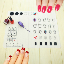 Professional Nail Art Tool Mat Nails Stamping Plate Water Marble Maker Silicon Table Cover Template Manicure Salon #95849