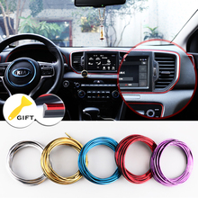 5M/SET Car Styling Brand Stickers and Decals Interior Decorative 3D Thread Stickers Decoration Strip on Car-Styling(China)
