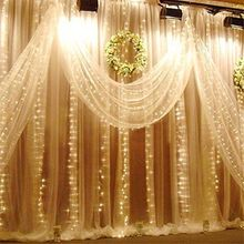 6Mx3M 600 LED Waterfall Outdoor Christmas Fairy String Curtain Light Wedding Hotels Party Event Stage Hotel Garden Club Supplies(China)