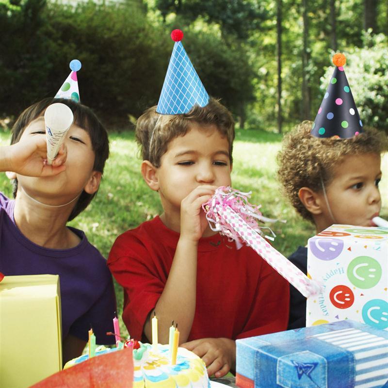 11 Pieces Cute Happy Birthday Party Hats Polka Dot DIY Handmade Cap Crown Gifts