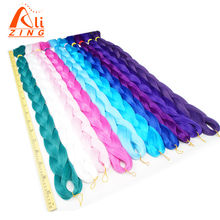 Alizing hair 82 Inch Jumbo Braids 165g Kanekalon High Temperature Synthetic Crochet Hair Extension Blonde Blue Purple