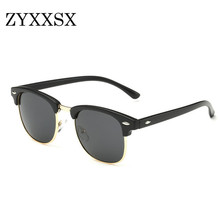 ZYXXSX Sunglasses New Retro Style Sun glasses Fashion Party Glasses UV400 Polarized Sunglasses Men Women Eyewear 3016(China)
