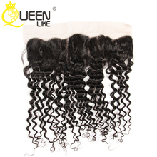 8A Full Lace Frontal Closure 13x4 Deep Curly Wave Virgin Brazilian Human Hair Ear To Ear Top Lace Frontal Pieces Wholesale Price