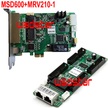 MSD600 LED Sending Card+MRV210-1 LED Receiving Card Full Color LED control system P4 P5 P6 P8 P10 P12 LED display controller(China)