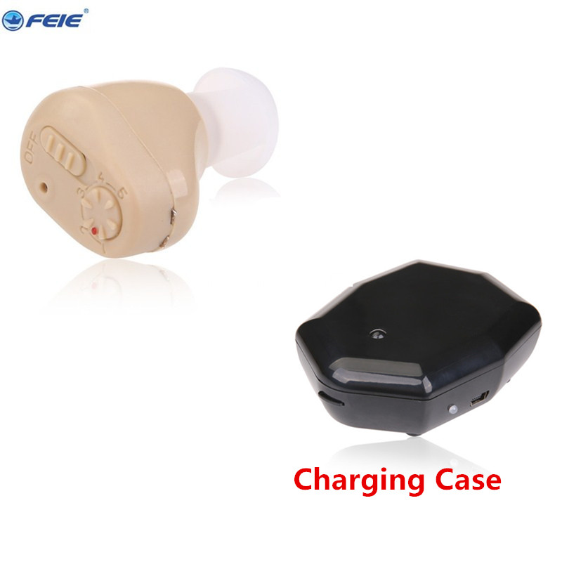 Mini ear aid adjustable tone rechargeable hearing aids for deaf headset S-219 free shipping <br>