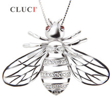 Buy CLUCI Cute Bee Cage pearl pendant, sterling silver jewelry accessory, fine jewelry honeybee charms women/girls for $18.70 in AliExpress store