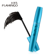 Free Shipping Flamingo Eye Makeup 8ml Thick Mascara Dense New Fine Screw Brush Head Volumizing Cream Super Volume Mascara 61208(China)
