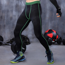 Men compression pants base layer tights running exercise fitness gym football soccer basketball pants