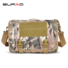 BURAQ Quality Cordura Nylon Military Single Shoulder Bag EDC Mens Messenger Bag Versipack Black Sand