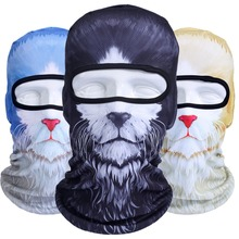 3D Animal Cat Dog Masks Bicycle Motorcycle Hat Cap Balaclava Snowboard Winter Warmer Veil UV Full Face Mask