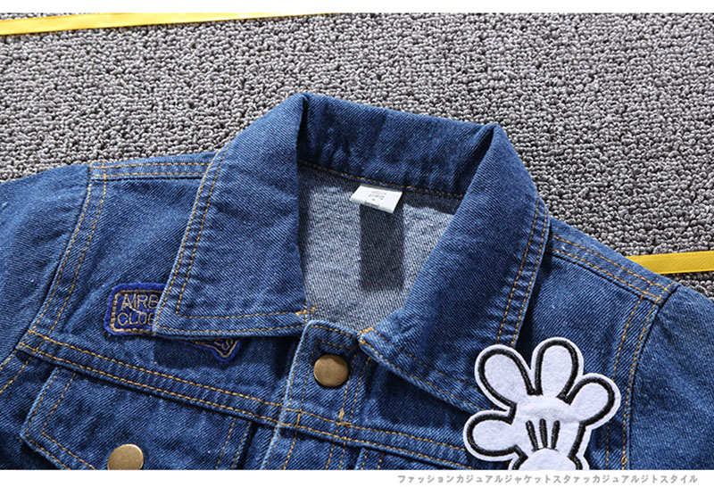 19 Mickey Denim Jacket For Boys Fashion Coats Children Clothing Autumn Baby Girls Clothes Outerwear Cartoon Jean Jackets Coat 15