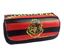 Harry Potter Stationery Pencil Case ,20*9*6.5cm Cartoon Anime Double Zipper School Pencil Bag Kids Gift(China)
