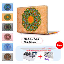 Mandala Paisley Laptop Computer Bag For Apple Mac Macbook Pro 15 For Macbook 12 Inch Case + Silicone Keyboard Cover A1502