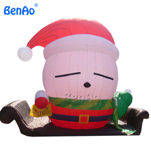 X088 Inflatable Santa Claus 5m Height Included DHL FREE Shipping Outdoor Christmas Inflatables Christmas with sleigh Deco(China)