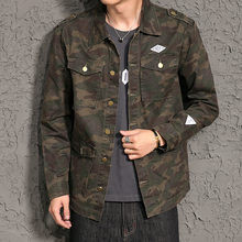 Camouflage Tactics Army Military Jacket Men Autumn Spring Denim Jacket With Bigger Pockets