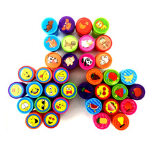 100% Good Quality Smile Animal Flowers Fruit Cartoon Self Inking Stamp Set Gift for Kids Scrapbooking DIY Photo Album Decoration