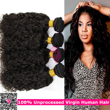 Hot Selling Brazilian Virgin Hair Wet And Wavy Human Hair Weave 4 Bundles Water Wave Natural Black Hair Products Deep Loose Curl