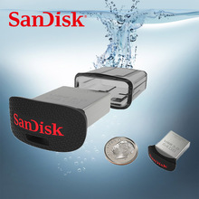 100% SanDisk ULTRA FIT CZ43 USB Flash Drive 64GB PENDRIVE 32GB 16GB Original USB3.0 Pen Drive Support official verification(China)