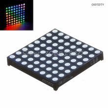 Matrix 8x8 RGB LED Full Color Dot Square Display 60x60mm Common Anode Z09 Drop ship(China)