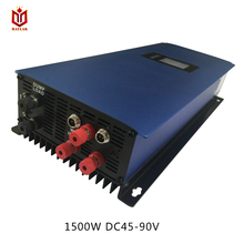 DECEN@ 3 Phase Input45-90V 1500W Wind Grid Tie Pure Sine Wave Inverter For 3 Phase 48V 1000Wind Turbine No Need Extra Controller(China)