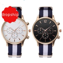 Splendid Luxe Fashion Band Canvas Mens Analoge Horloges Mannen Masculino Reloje(China)