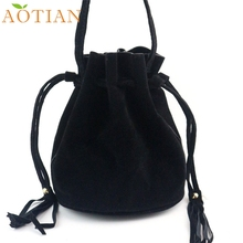 Women Fashion Tassel Drawstring Handbag Shoulder Bag Large Tote Ladies Purse LFY120