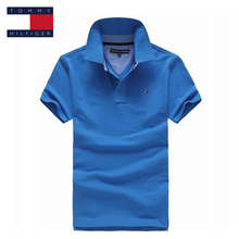 TOMMY HILFIGER fashion 4 color collar logo pure color classic polo shirt for man