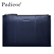 Padieoe New Arrival Men's Clutch Bag Real Cowhide Fashional Credit Card Organizer Luxury Male Designer Pouch Freeshipping