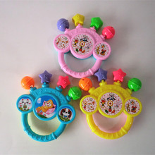 Plastic Shake Toy Educational Tambourine Handbell Baby Jingle Rattle Bell(China)