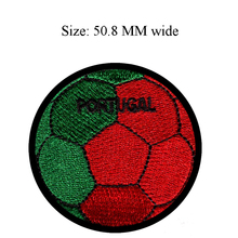 Portugal Soccer Ball embroidery patch 50.8 MM wide/team/glue/for clothing(China)