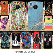 Silicone Phone Cover Cases For Motorola Moto G5 Plus XT1687 XT1684 XT1685 Cellphone Covers Plastic Cases Camera Finger Shell Bag