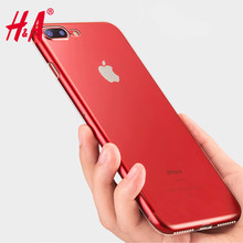 H&A Transparent Soft TPU Protective Shell Ultra Thin Case For iPhone 7 7 Plus Cases For Iphone 6 6s Plus Cover Coque