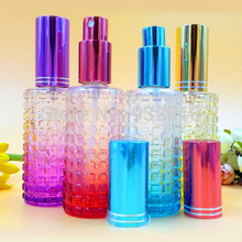 45ml Color Perfume Atomizer Sprayer Empty Bottles Refillable Travel Glass Scent Bottle Pump Cosmetic Containers 10pcs/lot DC345