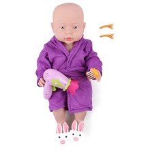 "1Set New Fashion American Girl Pajamas Shoes Plush Rabbit Slippers Comb Hairpin Hairdryer 18"" Dolls Night Robe Nightgown(China)"
