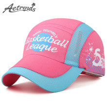 [AETRENDS] 2017 New Fashion Children Mesh Kids Baseball Cap Boy Girl Summer Mesh Sun Hat Z-5103
