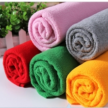 Soild Color Fleece Fabric anti-pilling for warm blanket outdoor Hats gloves Sport jackets DIY toy Many Uses / Polyester 300G/M