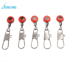 Bobing 100Pcs/lot 3.5x2cm Stainless Steel Fishing Barrel Swivel Solid Ring Interlock Snap Fish Hook Connector Tackle(China)