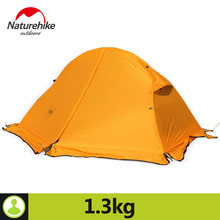 Naturehike 1 Person Tent With Camping Mat 20D Silicone Fabric 4 Season Ultralight Double Layers Aluminum Rod Tent  1.3kg 1.5kg