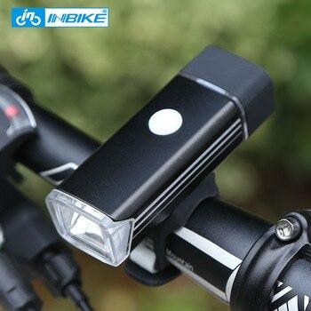 INBIKE MINI Bike Light Vélo lampe de Poche USB Interface Résistant À L'eau Avant De Bicyclette Led de 5 Couleurs DQ001