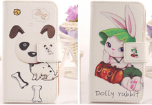 AIYINGE Flip design Wallet bag cute Cartoon Card holder case PU Leather Cover Protection cell phone shell For HTC One V
