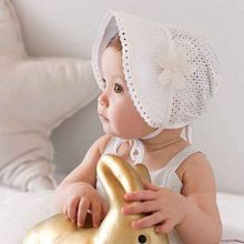Sun Hat Cap Summer Cute Toddlers Baby Girls Caps Flower Princess Cotton Solid Lace Hat Bonnet UK Baby Girl 5 - 24 Monthes(China)