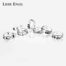 LIEBE ENGEL Ink Painting Resin Ring For Women Handmade Jellyfish Dandelion Tree Rings Finger Ring For Man Vintage Punk Jewelry(China)