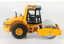 Single drum rolling Road Truck model scale 1:50 ABS Alloy Diecast engineer machine model 2 rubber wheels colections toys