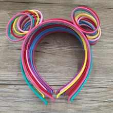 Mickey Mouse Ears Minnie Headband for Boys and Girls Birthday Party or Celebrations Plastic Headbands for Girls 12pcs/lot