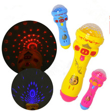 Kids Luminous Toys Creative Microphone Singing Funny Gift Music Toy Flash Light Up Toys(China)