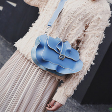 snall vintage ruffles shoulder messenger bag mini all-match cross-body bag girl sweet one shoulder bag brand design lady bag