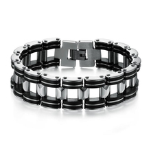 Stainless Steel Bracelet & Bangle Bracelet Men Jewelry Casual 304L 210mm Fashion Men's Jewelry Strand Rope Charm Chain Wristband(China)
