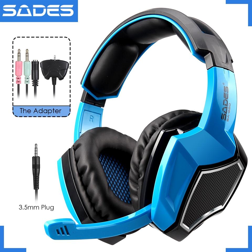 Original SADES SA-920 Multi-Platform Gaming Headset Headphones For Laptop/PS4/Xbox 360/PC/Cellphone/PS3 Player<br>