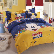 Fashion Cute Lovely Cartoon 4Pcs Twin/Full/Queen Size Bed Quilt/Duvet/Doona Cover Set & Flat/Fitted Sheet Shams Boy Girl's Bed
